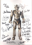 Cyberman A3 Poster 18 Genuine Autographs, rare